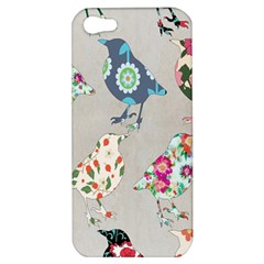 Birds Floral Pattern Wallpaper Apple Iphone 5 Hardshell Case