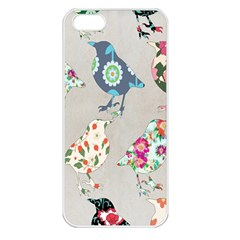 Birds Floral Pattern Wallpaper Apple Iphone 5 Seamless Case (white)
