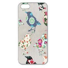 Birds Floral Pattern Wallpaper Apple Seamless Iphone 5 Case (clear)
