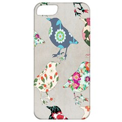 Birds Floral Pattern Wallpaper Apple Iphone 5 Classic Hardshell Case