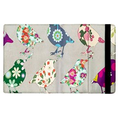 Birds Floral Pattern Wallpaper Apple Ipad 3/4 Flip Case