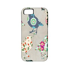 Birds Floral Pattern Wallpaper Apple Iphone 5 Classic Hardshell Case (pc+silicone)