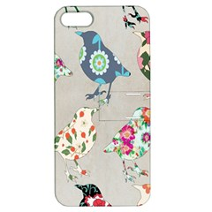 Birds Floral Pattern Wallpaper Apple Iphone 5 Hardshell Case With Stand