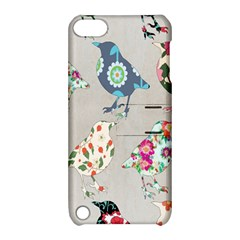 Birds Floral Pattern Wallpaper Apple Ipod Touch 5 Hardshell Case With Stand