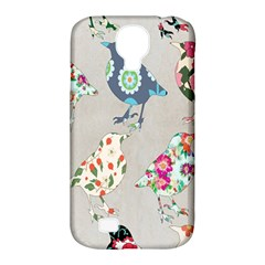 Birds Floral Pattern Wallpaper Samsung Galaxy S4 Classic Hardshell Case (pc+silicone)