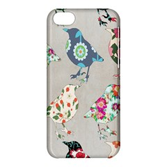 Birds Floral Pattern Wallpaper Apple Iphone 5c Hardshell Case