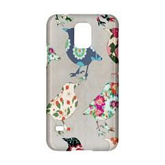 Birds Floral Pattern Wallpaper Samsung Galaxy S5 Hardshell Case