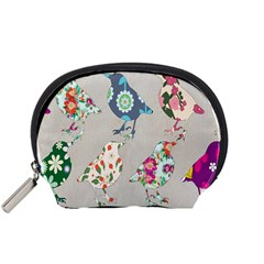 Birds Floral Pattern Wallpaper Accessory Pouches (small)