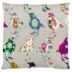 Birds Floral Pattern Wallpaper Standard Flano Cushion Case (two Sides)