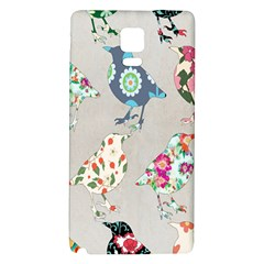 Birds Floral Pattern Wallpaper Galaxy Note 4 Back Case