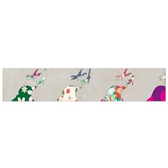 Birds Floral Pattern Wallpaper Flano Scarf (small)