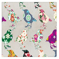 Birds Floral Pattern Wallpaper Large Satin Scarf (square)