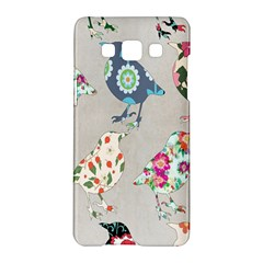 Birds Floral Pattern Wallpaper Samsung Galaxy A5 Hardshell Case