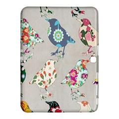 Birds Floral Pattern Wallpaper Samsung Galaxy Tab 4 (10.1 ) Hardshell Case