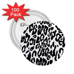 Black And White Leopard Skin 2 25  Buttons (100 Pack)