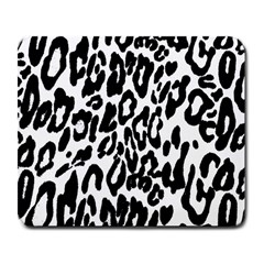 Black And White Leopard Skin Large Mousepads
