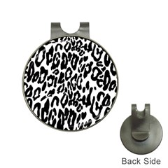 Black And White Leopard Skin Hat Clips With Golf Markers