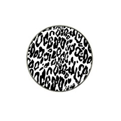 Black And White Leopard Skin Hat Clip Ball Marker (4 Pack)