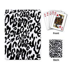 Black And White Leopard Skin Playing Card