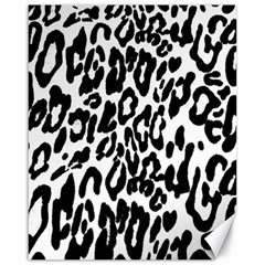 Black And White Leopard Skin Canvas 16  X 20