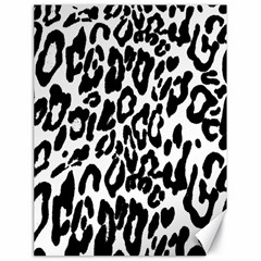 Black And White Leopard Skin Canvas 18  X 24