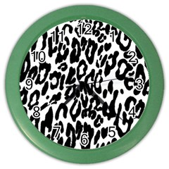 Black And White Leopard Skin Color Wall Clocks