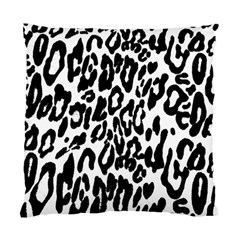 Black And White Leopard Skin Standard Cushion Case (one Side)