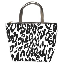 Black And White Leopard Skin Bucket Bags