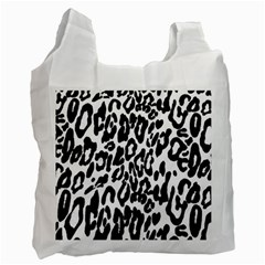 Black And White Leopard Skin Recycle Bag (one Side)