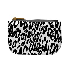 Black And White Leopard Skin Mini Coin Purses