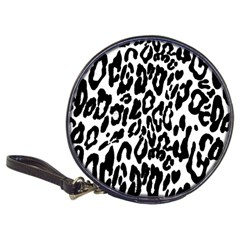 Black And White Leopard Skin Classic 20 Cd Wallets