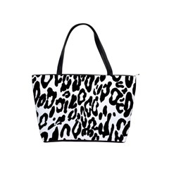 Black And White Leopard Skin Shoulder Handbags