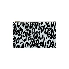 Black And White Leopard Skin Cosmetic Bag (Small)