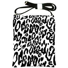 Black And White Leopard Skin Shoulder Sling Bags