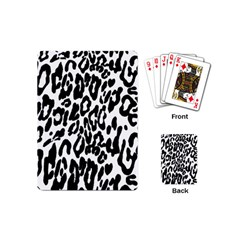 Black And White Leopard Skin Playing Cards (mini)
