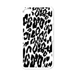 Black And White Leopard Skin Apple Iphone 4 Case (white)