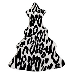 Black And White Leopard Skin Ornament (christmas Tree)