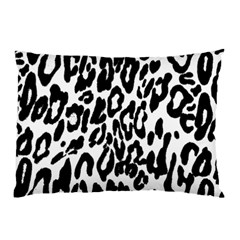 Black And White Leopard Skin Pillow Case (two Sides)