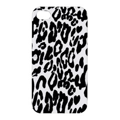 Black And White Leopard Skin Apple Iphone 4/4s Hardshell Case
