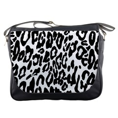 Black And White Leopard Skin Messenger Bags