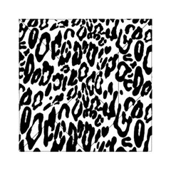 Black And White Leopard Skin Acrylic Tangram Puzzle (6  X 6 )