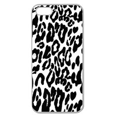 Black And White Leopard Skin Apple Seamless Iphone 5 Case (clear)