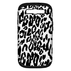 Black And White Leopard Skin Samsung Galaxy S Iii Hardshell Case (pc+silicone)