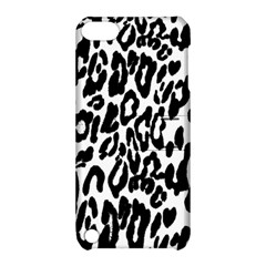 Black And White Leopard Skin Apple Ipod Touch 5 Hardshell Case With Stand