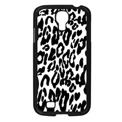 Black And White Leopard Skin Samsung Galaxy S4 I9500/ I9505 Case (black)