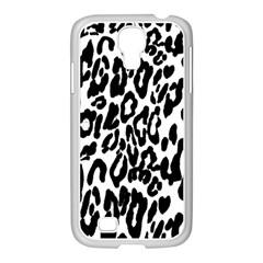 Black And White Leopard Skin Samsung Galaxy S4 I9500/ I9505 Case (white)