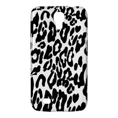 Black And White Leopard Skin Samsung Galaxy Mega 6 3  I9200 Hardshell Case