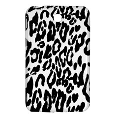 Black And White Leopard Skin Samsung Galaxy Tab 3 (7 ) P3200 Hardshell Case