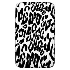 Black And White Leopard Skin Samsung Galaxy Tab 3 (8 ) T3100 Hardshell Case