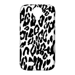 Black And White Leopard Skin Samsung Galaxy S4 Classic Hardshell Case (pc+silicone)